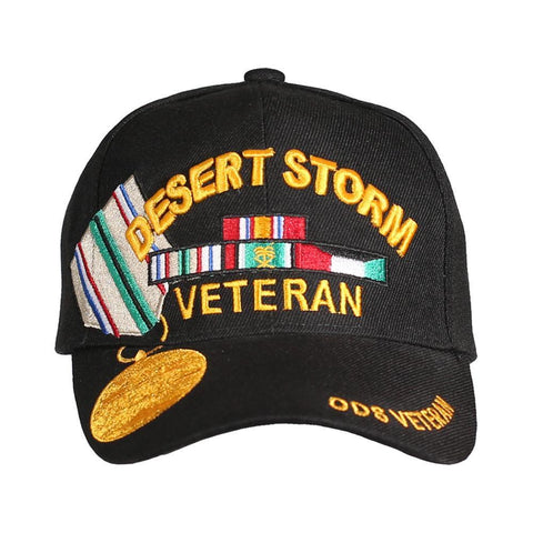 Operations Desert Storm Medal Veteran Embroidered Hat-Military Republic