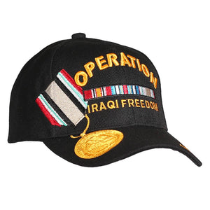 Operation Iraqi Freedom Veteran Medal Cap - Black
