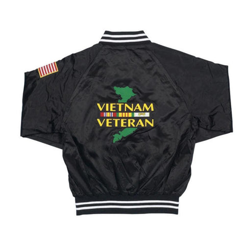 Patriotic Vietnam Veteran Satin Jacket
