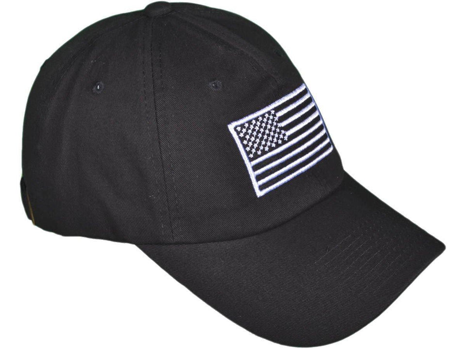 Patriotic USA Flag Embroidered Hat (Black and Green Camo)-Military Republic