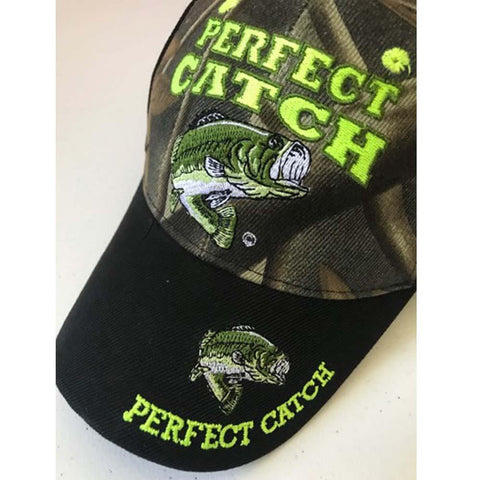 Perfect Catch- Funny Fishing Camo Cap
