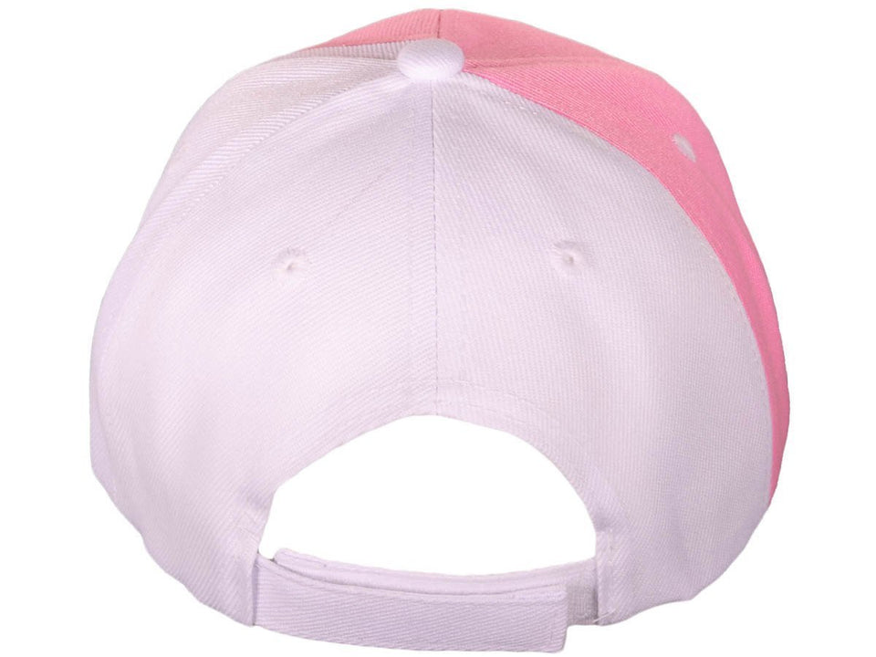"Pink Ribbon Breast Cancer Awareness Baseball Cap with ""Awareness"" Embroidery"