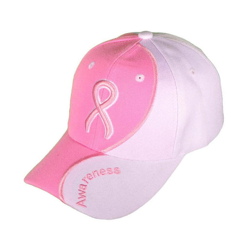 Pink Ribbon Breast Cancer Awareness Baseball Cap with