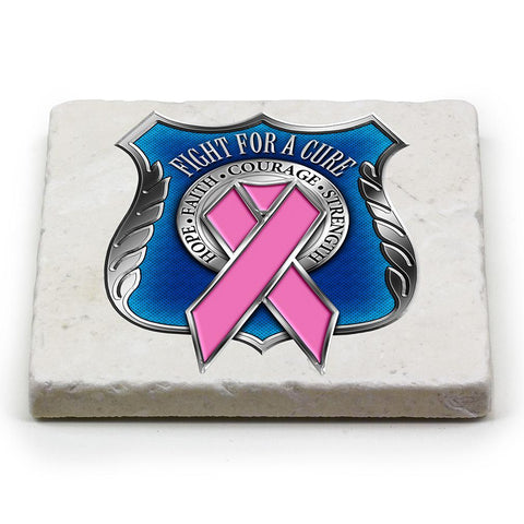 Police- breast cancer awareness Coaster-Military Republic