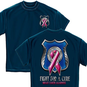 POLICE fight for a Cure- Cancer Awareness T-Shirt-Military Republic