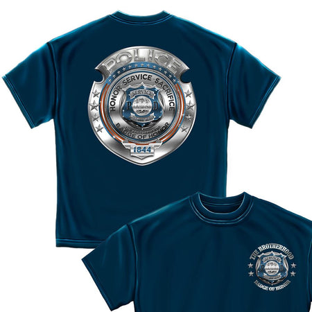 Police Honor Courage Sacrifice Badge T-Shirt
