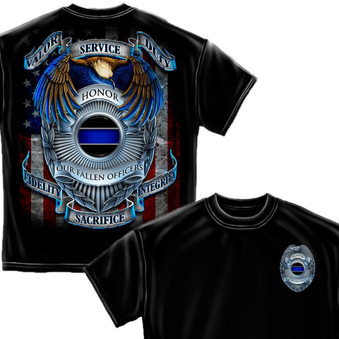 Police Honor Our Heroes T-Shirt-Military Republic