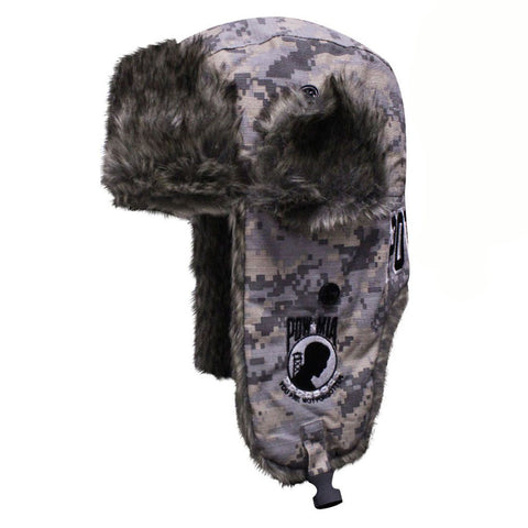 Dakota Dan POW-MIA Camo Faux Rabbit Fur Aviator Cap