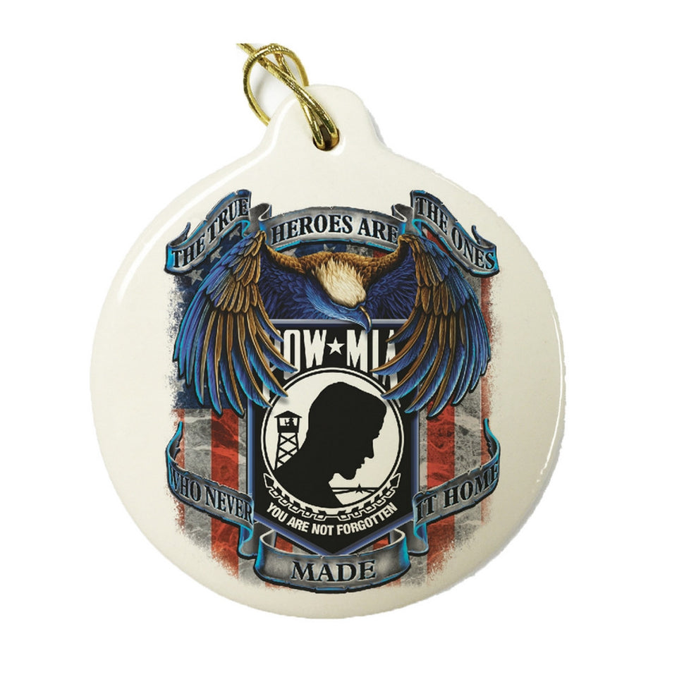 POW MIA Christmas Ornament-Military Republic