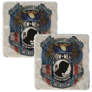 POW MIA Coaster-Military Republic
