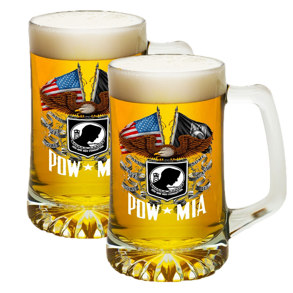 POW MIA Double Flag Tankard-Military Republic
