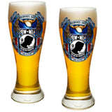 POW MIA Heroes Pilsner Glass Set-Military Republic