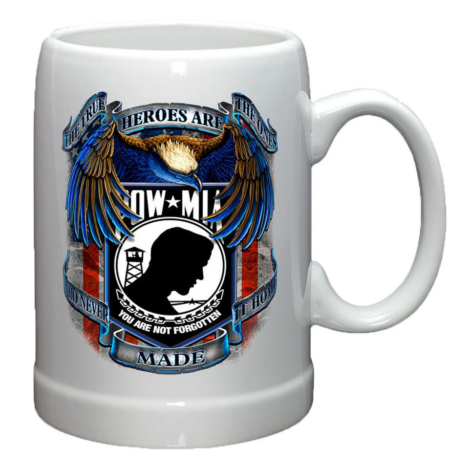 POW MIA Heroes Stoneware Mug Set-Military Republic