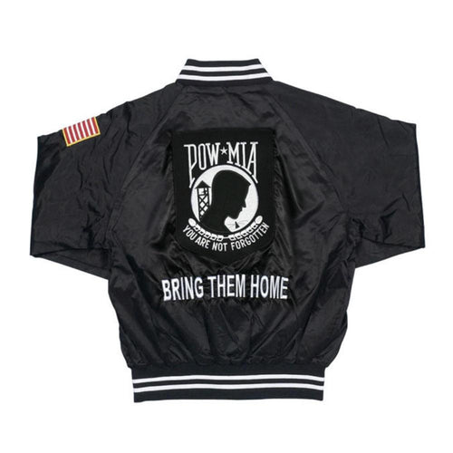 POW-MIA Patriotic and Veteran Satin Jacket