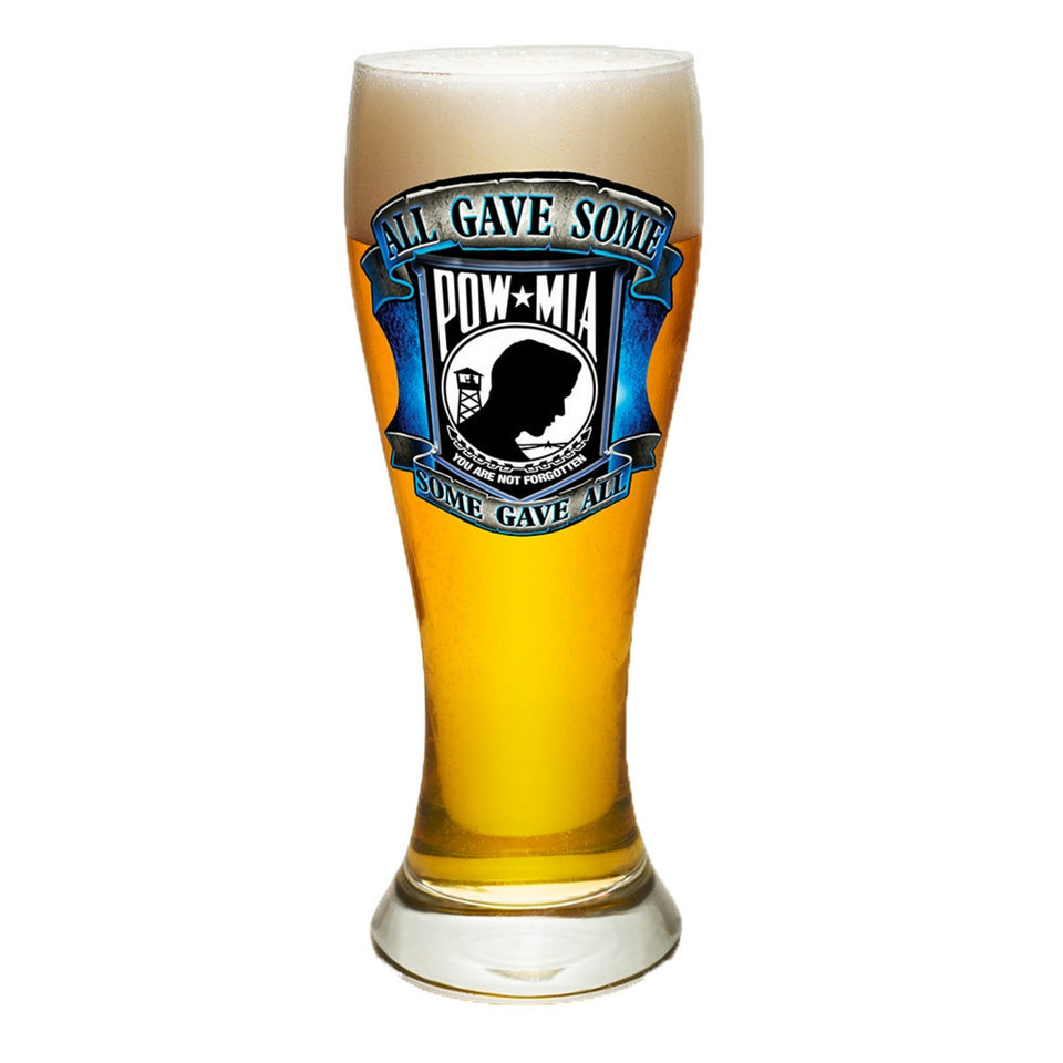 POW MIA Pilsner Glass Set-Military Republic