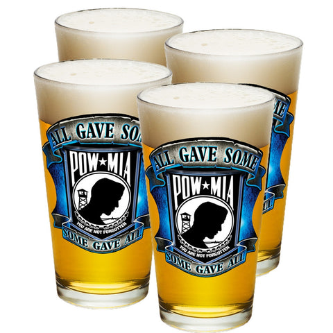 POW MIA Pint Glasses-Military Republic