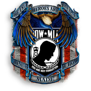 POW MIA True Heroes Decal-Military Republic