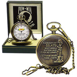 POW MIA Vietnam War Memorial Pocket Watch With Gift Box