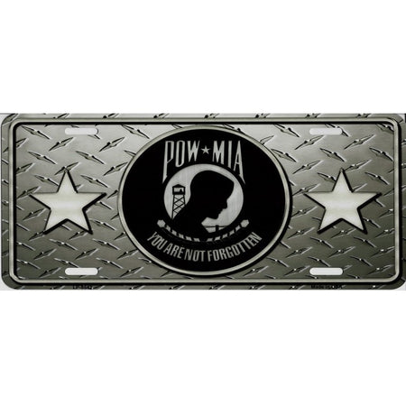 P.O.W. You Are Not Forgotten On Diamond License Plate