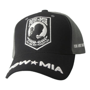 """POW★MIA YOU ARE NOT FORGOTTEN"" Black & Grey Cap"