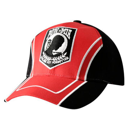 """POW★MIA YOU ARE NOT FORGOTTEN"" Red & Black Cap"