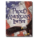 Proud Americans Tin Sign-Military Republic