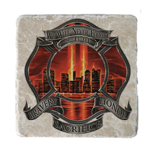 Red High Honor Firefighter Coaster-Military Republic