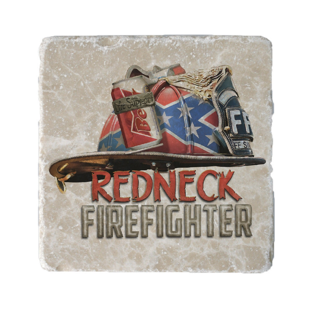 Redneck Firefighter Coaster-Military Republic