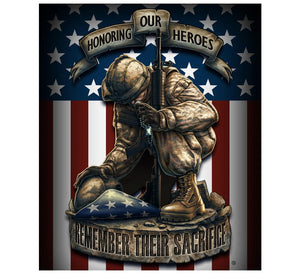 Remember Their Sacrifice Blanket-Military Republic
