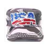 Rhinestone Cadet Hat USA - Pink Camo-Military Republic
