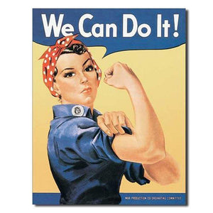 Rosie The Rivetor Tin Sign-Military Republic