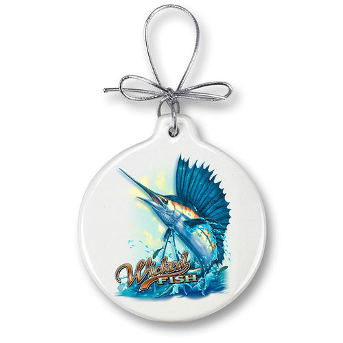 Sailfish Fishing Christmas Ornament