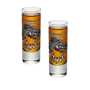 Semper Fi Chrome Shot Glasses-Military Republic