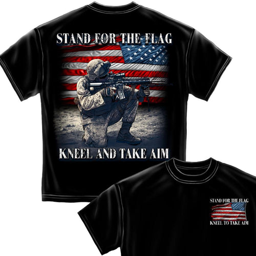 Stand For The Flag - Kneel and Take Aim T-shirt