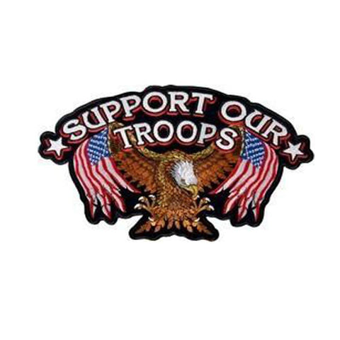Support Our Troops Back Patch-Military Republic