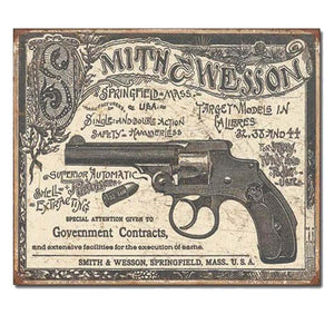 S&W - 1892 Gov. Contracts Tin Sign-Military Republic