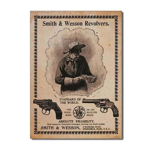 S&W - Standard of the World Tin Sign-Military Republic