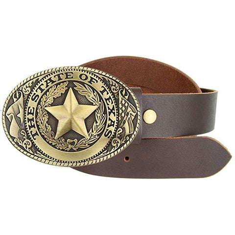 Texas State Pride Star Zinc Alloy Belt Buckle