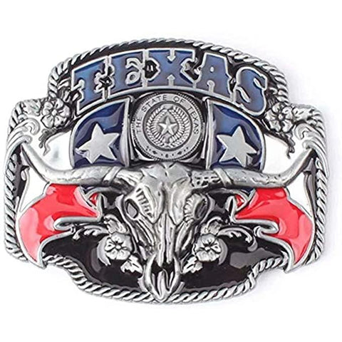 Texas State Flag Pride Zinc Alloy Belt Buckle