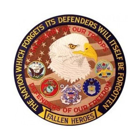 The Nation Which Forgets... Defenders of Our Freedom Back Patch (12 inch)