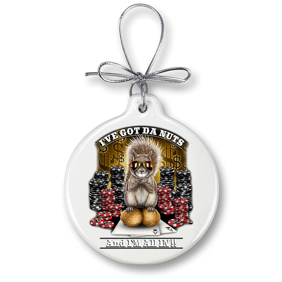 The Nuts Poker Christmas Ornament