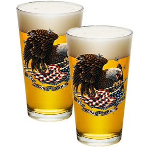These Colors Don't Run Pint Glasses-Military Republic
