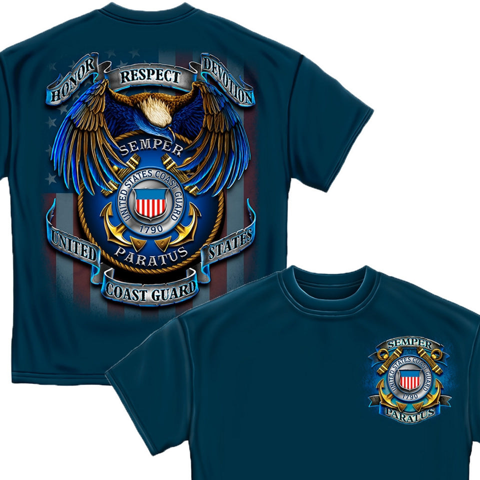 True Heroes Coast Guard T-Shirt-Military Republic