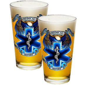 True Heroes EMS Pint Glasses-Military Republic