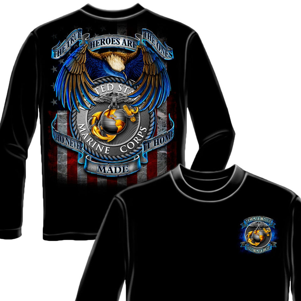 True Heroes USMC T Shirt-Military Republic