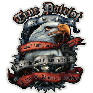 True Patriot American Soldier Decal-Military Republic