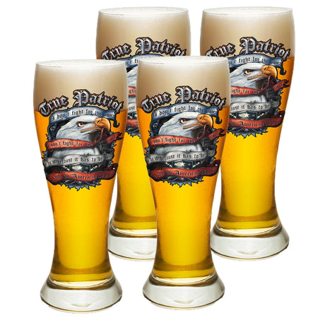 True Patriot Pilsner Glass Set-Military Republic