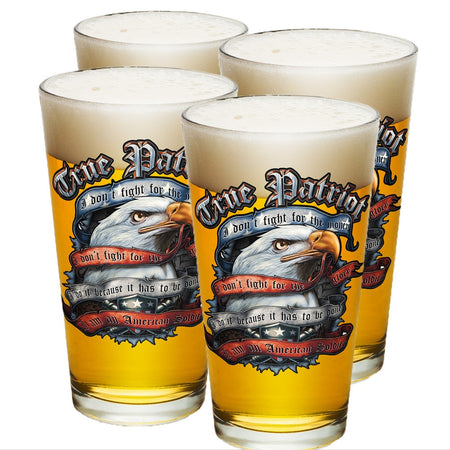 True Patriot Pint Glasses-Military Republic