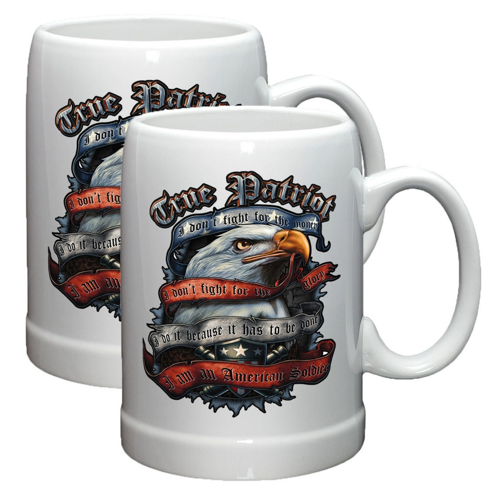 True Patriot Stoneware Mug Set-Military Republic