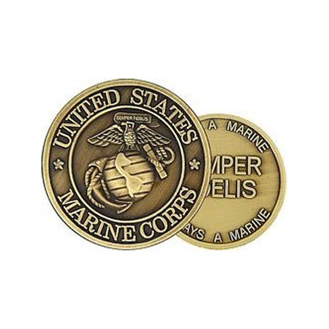 U. S. Marine Corps Insignia Challenge Coin (38MM)